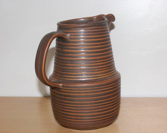 Monmouth Stoneware Pitcher - Mojave Brown Bee Hive - Arts and Crafts