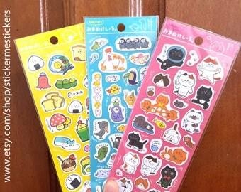 Food sticker, Cat sticker, Bird sticker, Sushi sticker, Parrot sticker, Kitten sticker, Hoccori