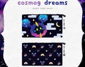 Pokemon 「Cosmog Dreams 」Double sided pouch - fits Nintendo 3dsXL | Kawaii galaxy rainbow gift pencil case | Pokemon sun moon