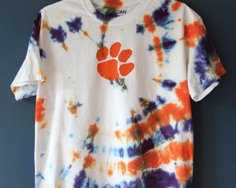 Adult Clemson Tigers Tie Dye Tshirt