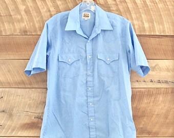 Vintage Ely Cattleman Western Cowboy Shirt M/L