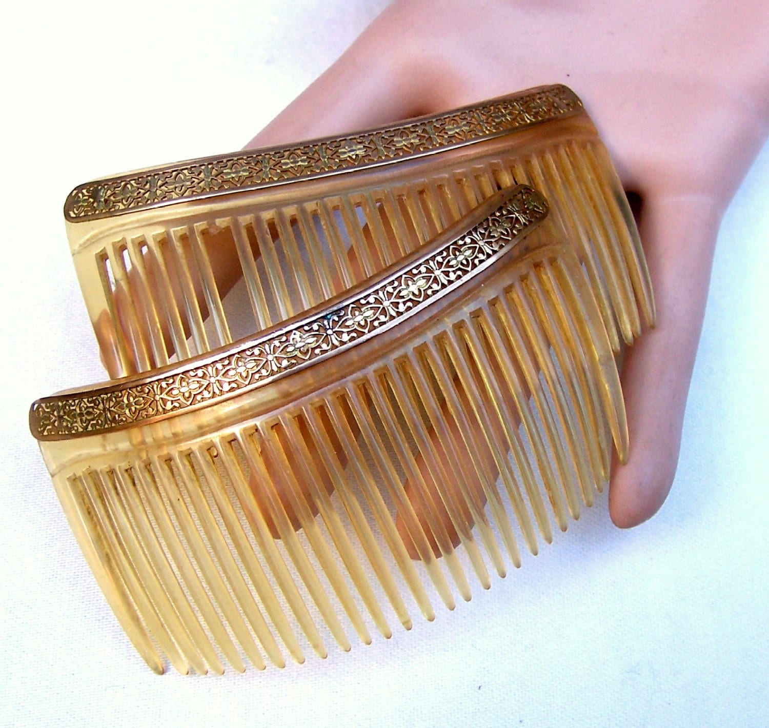 Vintage Hair Combs Accessories 2 Antique Hair Combs Hair