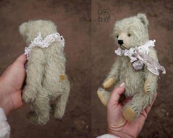 Silent Partner, Green Mohair Artist Teddy Bear from Aerlinn Bears