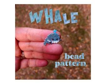 Brick Stitch Whale Beading Pattern