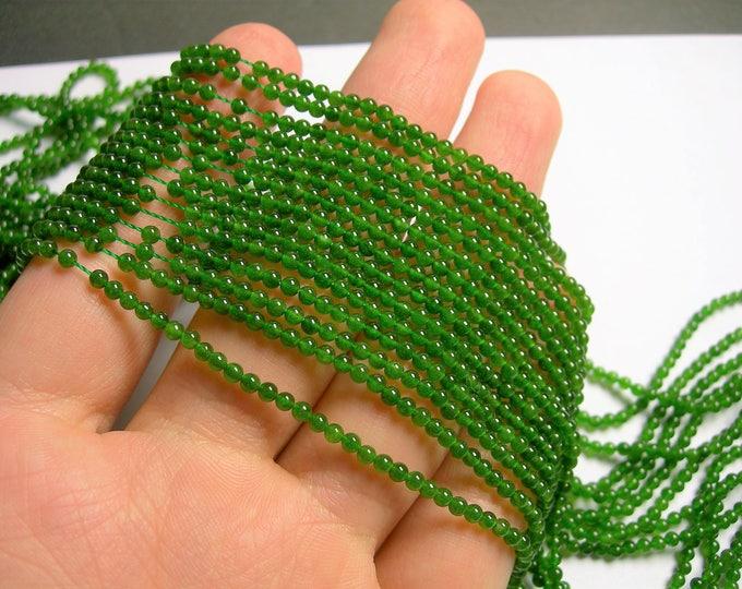 Jade  - 2.5 mm round beads -1 full strand - 156 beads - AA quality - PG9