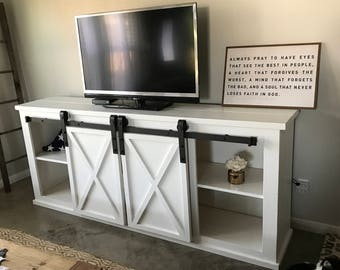 Barn Door Console Etsy