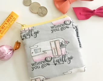 where you go campers [#kateandaprilconspire] mini pouch