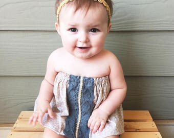 B O H O  C O L LE C T I O N // Boho Crochet Trim Swing Top /  Toddler Top / Baby Top / Boho  / Baby clothing / Toddler Clothing / Summer Top