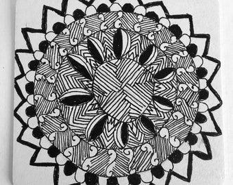 Original Artwork Tangle Mandala