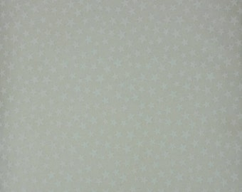 """White on White Small Stars 108"""" wide quilt back 100% cotton fabric"""
