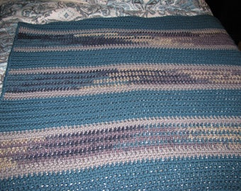 Blanket Teal Twilight Crocheted