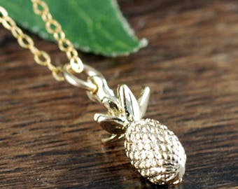 Dainty Gold Pineapple Necklace, Pineapple Jewelry, Gold Pineapple Jewelry, Gift for Her, Minimalist Necklace, Best Friend Gift, BFF Jewelry