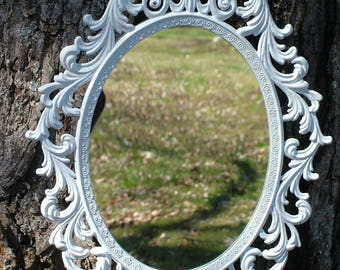Shabby Chic, PRINCESS Mirror, White Mirror or Frame , Ornate Mirror,  13 x10  White or Choose Color