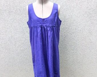 Vintage 90s Purple Jumper, 90s Dress, Vintage Mini Dress, Summer Dress, Day Dress, Sun Dress, Size S