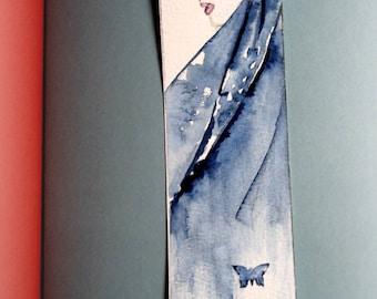 Handpainted bookmark. Vintage fashion.