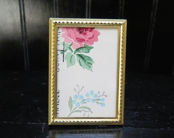 Art Deco  2 x 3  Gold/ Brass picture Frame
