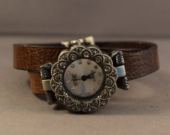 Leather Watch-Watches For Women-Women Watches-Gifts-Bracelet Watch-Brown Watch-Anniverssary Gifts-Wrap Watch-Birthday Gifts-Gift For Her