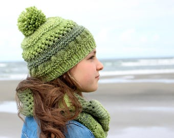 Into the Forest Beanie | PDF knitting pattern