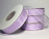 SALE Sheer Organza Lavender Ribbon, 25 yards, 5/8 width - For Lavender Weddings, Spring Wedding, Purple Wedding, Lavender