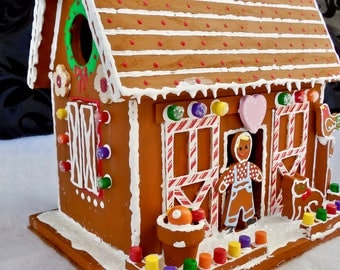 Faux Gingerbread Farmer's Barn