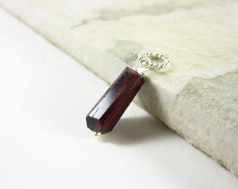 L - Dark Red Garnet Nugget Pendant - Natural Gemstone Jewelry - Genuine Garnet Pendant - Natural Stone Jewelry - Pyrope Garnet Jewelry