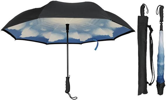 Blue Skies Inverted Umbrella