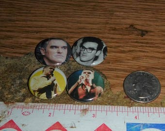 MORRISSEY 4 one inch pin back buttons badge set