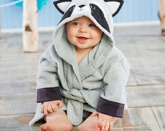 "Infant's Personalized ""Little Rascal"" Raccoon Spa Robe"