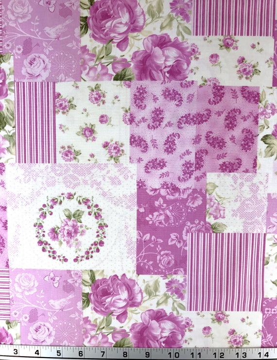 Cheater patchwork fabric cheater quilting fabric 100 for Fabric arts and crafts ideas