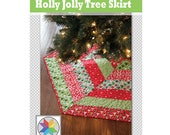 Holly Jolly Christmas Tree Skirt Pattern (pdf)
