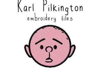 Karl Pilkington EMBROIDERY MACHINE FILES Instant Download pattern multiple sizes included design pattern digital
