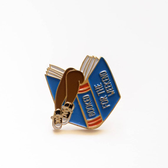 NEW** Booked for the Weekend Blue Book Lover Enamel Pin