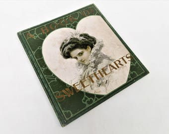 Antique Book of Sweethearts | Harrison Fisher | Gibson Girls | 1908 First Edition