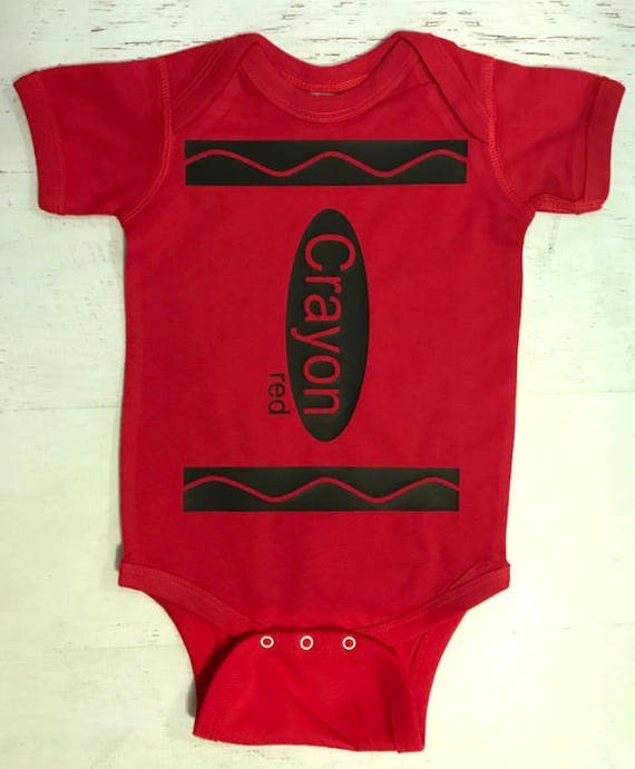 Crayon Baby Bodysuit pictured in Turquoise Pick your Color
