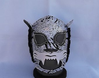 Bengala Tiger Wrestling Mexican mask Lucha Libre Halloween cosplay superhero luchador Mardi Gras masks Lucha Va voom