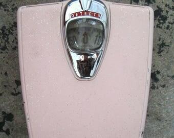 1950s 1960s Pink Detecto Scale // Mid Century Modern Bathroom