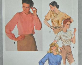 Simplicity 9266, Misses Blouse Pattern, Size 12, Factory Folded Uncut, Vintage 1979