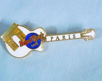Hard Rock Cafe HRC Guitar Pin - Paris, 1990s ~~ Arc De Triomphe, Les Paul
