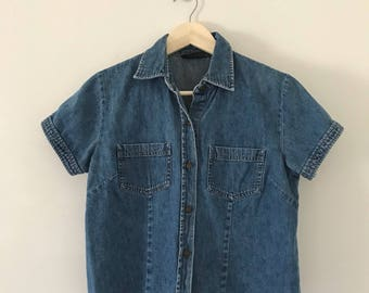 Vintage 90's Cropped Denim Top