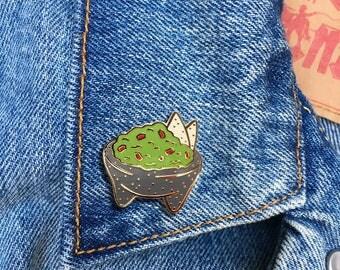 Guacamole Pin, Hard Enamel Pin, Lapel Pin, Foodie, Gift, Jewelry, Art (PIN125)