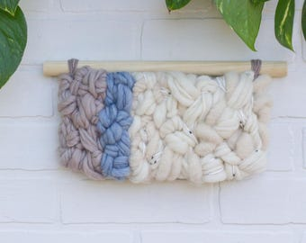 Modern Fiber Art | Neutral Woven Wall Hanging with Great Texture
