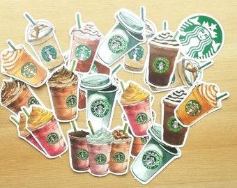 Starbucks coffee Deco Sticker (27 pcs)