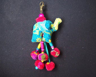 Thai handmade elephant Key-chain/ KC-032/Lobster keychain/Elephant keychain/Handmade keychain/Father's day gift for him/For dad/Summer keych