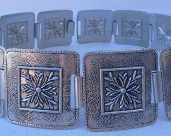 vintage belt, aluminum, hat band, fashion accessories, from Diz Has Neat Stuff