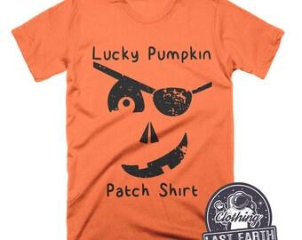 Lucky Pumpkin Patch Shirt Funny Halloween Shirt Pirate Shirt Funny Pumpkin Shirt Gifts Mens Tshirt Womens Graphic Tees Kids Pumpkin Shirts