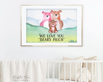 Art Print - We Love You Beary Much (W00040)