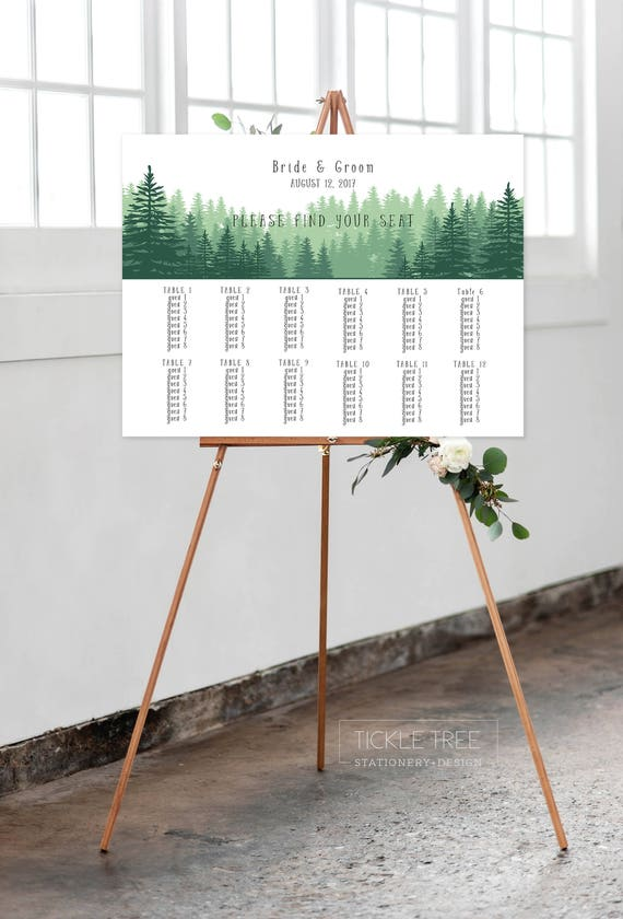 Seating Chart - Evergreen Forest (Style 0024)