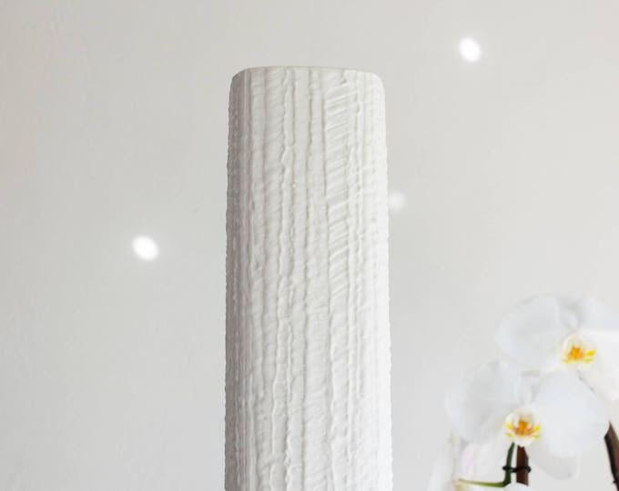 Mid Century West German Modernist Matte White Porcelain Vase // Thomas Germany // Scandinavian Modern Home Decor