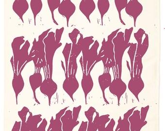 Beet Organic Kitchen Towel - Beet Red