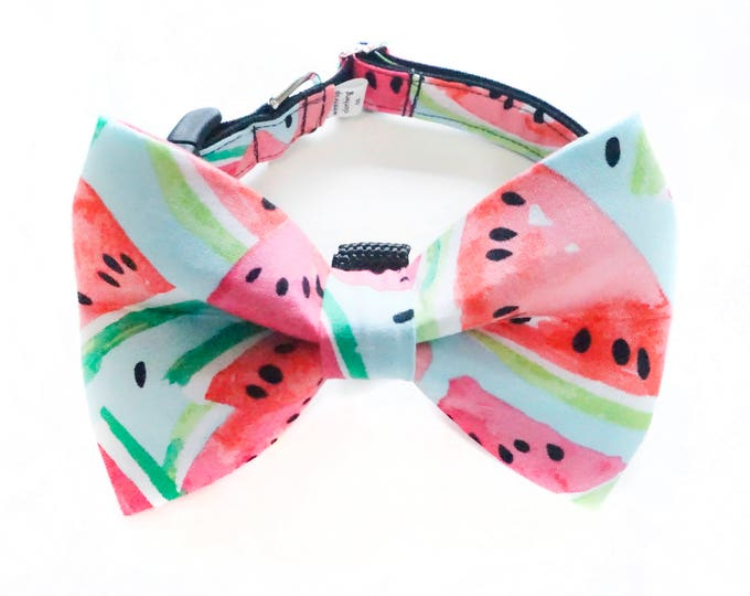 Featured listing image: Watermelon Dog Bow Tie Collar